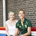 Kirstin and Ursula on a Dutch Bench